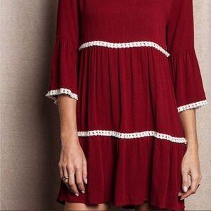 UMGEE Boho Peasant Tunic/babydoll Dress . Medium
